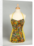 Bathing costume in yellow elasticated helanca fabric, c.1985 by unknown