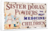 Sister Dora's Powders enamel sign by unknown