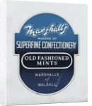 Marshall's sweets label, Walsall Lithographic Co. Ltd., by unknown
