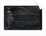 Walsall Lithographic advertising plaque, c.1894 - 1905 by unknown