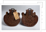 Antique Mexican carved wooden stirrups by unknown