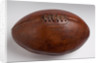 A lace-up leather rugby ball by Mark Cross Co. of Walsall by unknown
