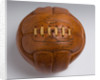 Hand stitched leather football by Globe of Walsall, c.1964 by unknown