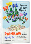 Rainbow Mineral Waters advertisement, printed by Walsall Lithographic Company Limited, 1950s by unknown