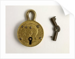 Miniature padlock made from a 1911 George V half sovereign by a Willenhall locksmith by unknown